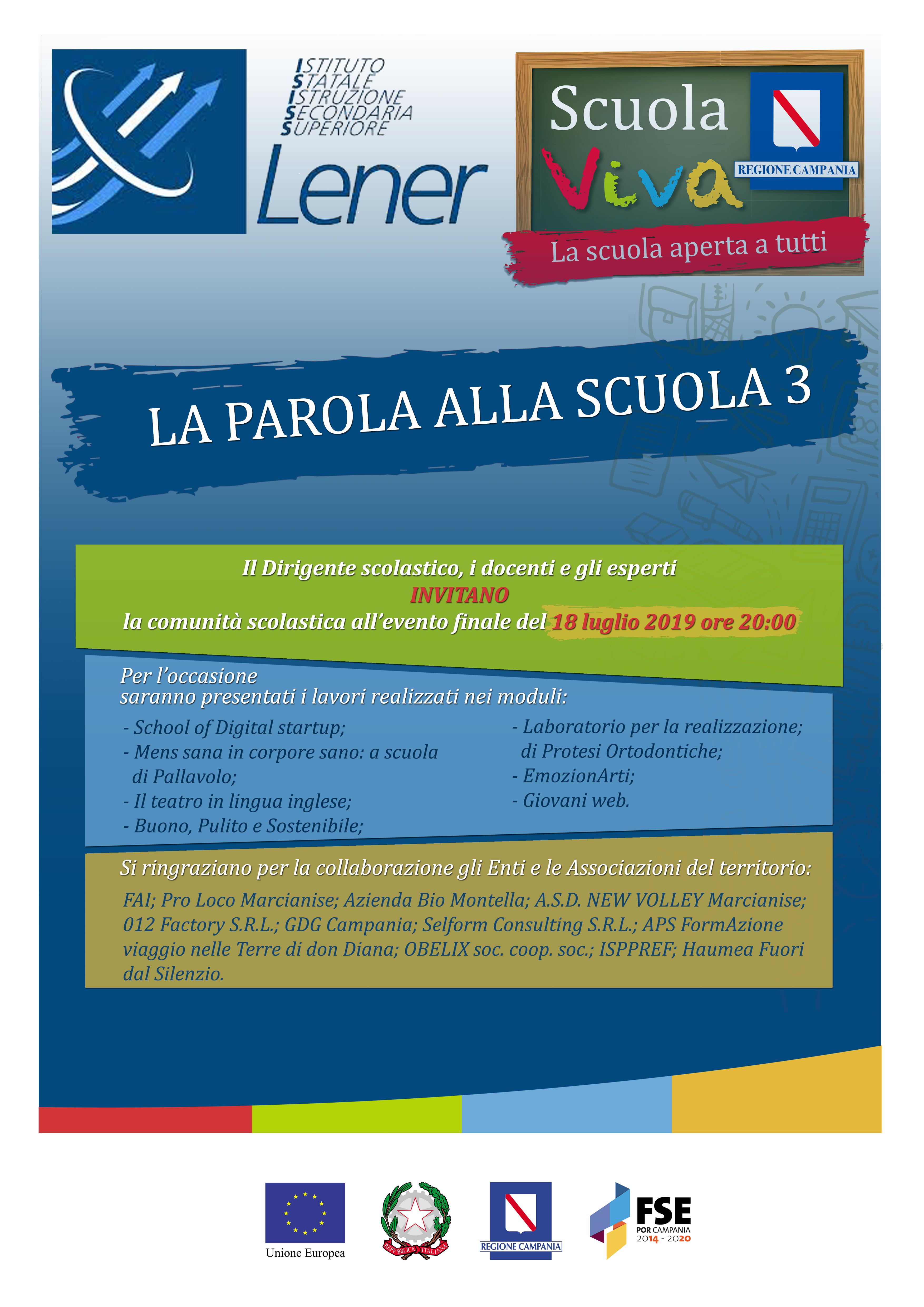 Calendario Regionale Campania Scuola.I S I S S P S Lener